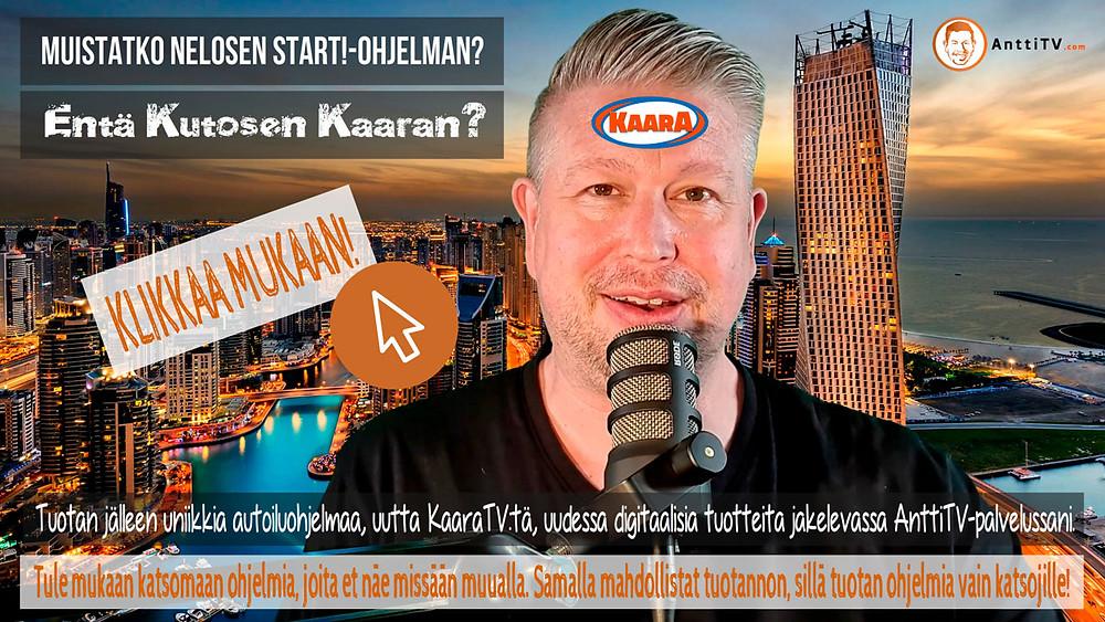 Tule katsomaan ja tukemaan KaaraTV-autoiluohjelman tuotantoa!