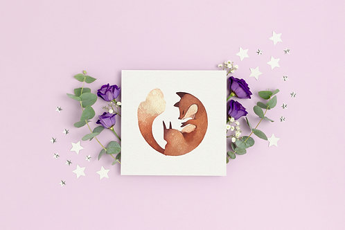 "Art Print ""Sleepy fox"
