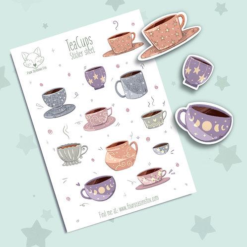 TeaPots- Autumn sticker sheet | Bullet Journal Stickers, Planner Stickers, Scrap