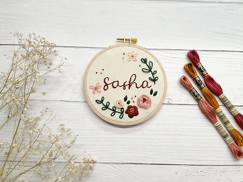 Personalized Embroidery hoop art