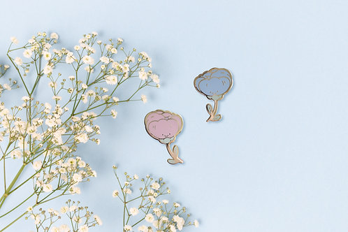 Little Peony Enamel Pin set
