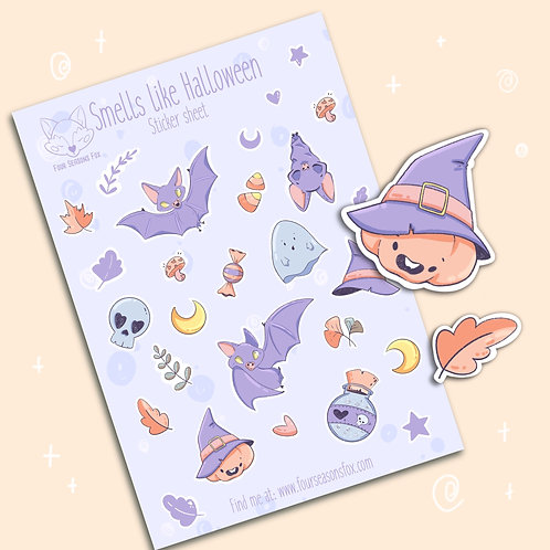 Sticker Sheet - Halloween | Bullet Journal Stickers, Planner Stickers, Scrapbook