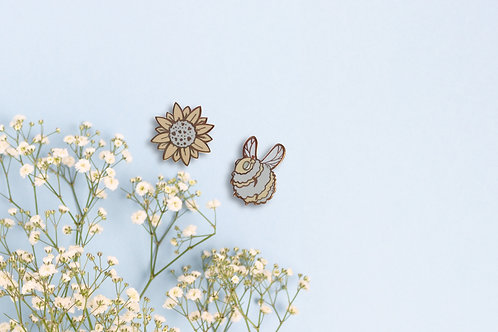Bee and Sunflower Enamel Pin
