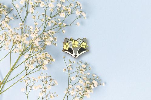 Spring Racoon Enamel Pin