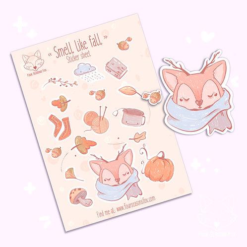 Sticker Sheet - Fall | Bullet Journal Stickers, Planner Stickers, Scrapbook Stic