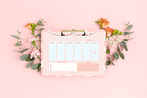 Pastel weekly planner