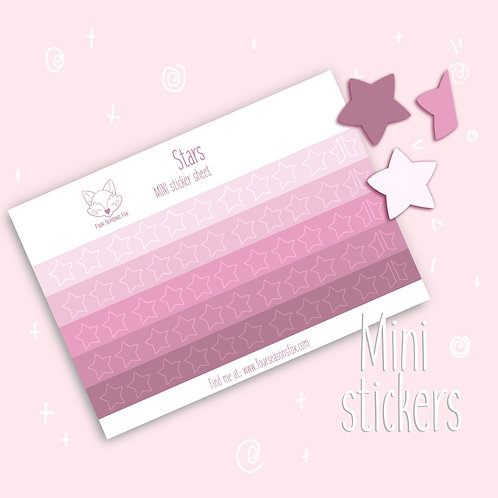Pink Rating Stars | Bullet Journal Stickers, Planner Stickers