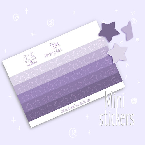 Purple Rating Stars | Bullet Journal Stickers, Planner Stickers