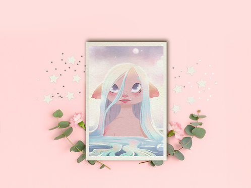 "Art Print ""Mermaid"""