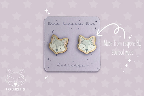 Earrings ArcticFox