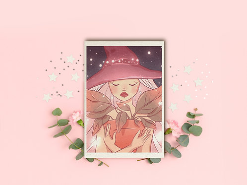 "Art Print ""Plant witch"""