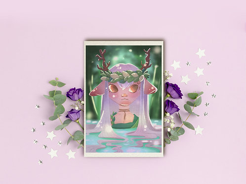 "Art Print ""Forest Nymph"""