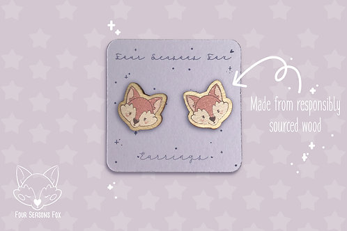 Earrings Red Fox