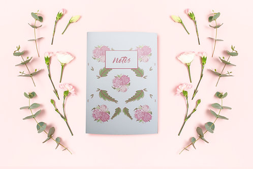 """Blanc Notebook """"peonies"""""""