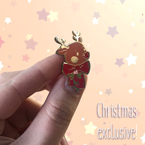 Rudolph the Red nosed reindeer- enamel pin | Christmas pin