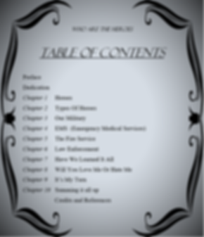 Table Of Contents Who Are The Heroes