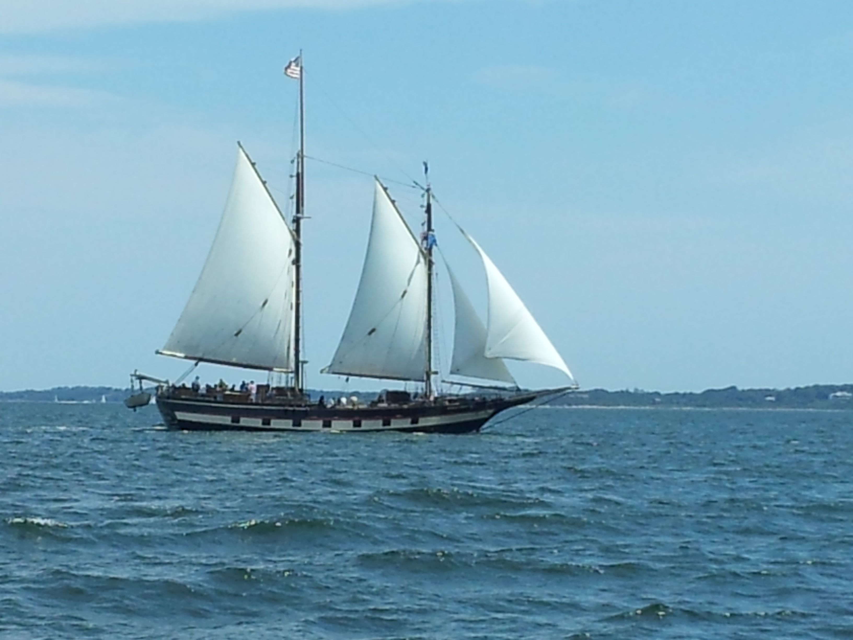 I'm sailing away.