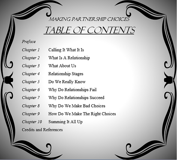 Table of COntents Making Partnership Choices