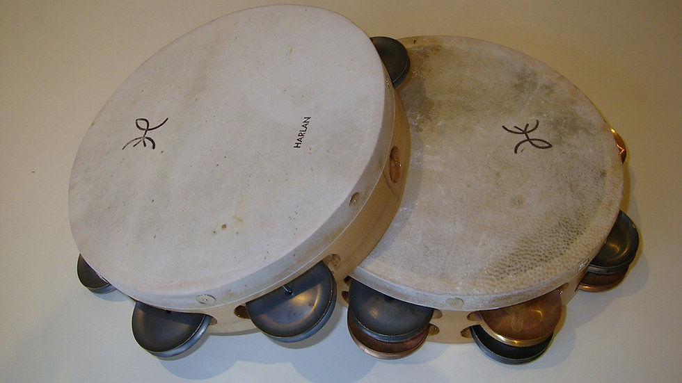 "Harlan 8"" Single Row Tambourine"
