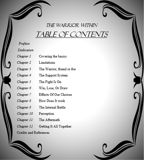 Table of Contents The Warrior Within