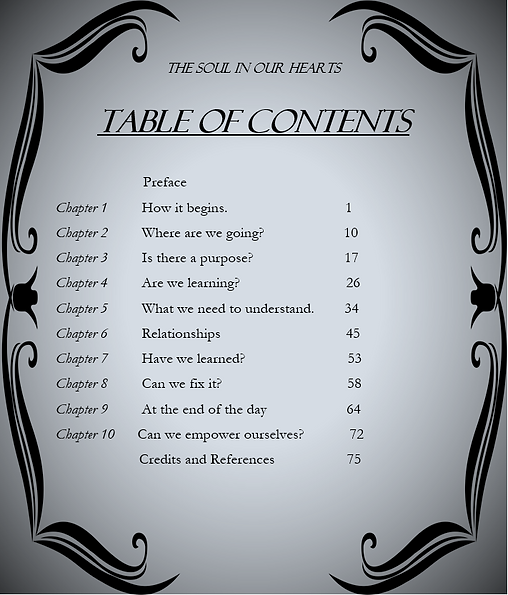 Table Of Contents The Soul In Our Hearts