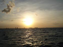 The city from offshore