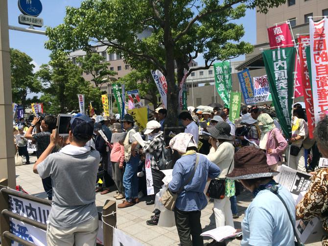 6.13鹿児島県議会「再稼働させない」行動集会