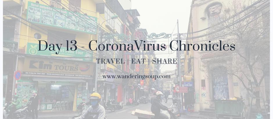Day 13 - CoronaVirus Chronicles | Wandering Soup