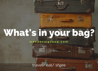 What's in your bag?   Wandering Travel Tours