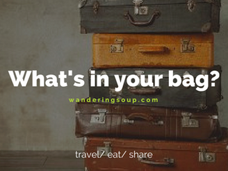 What's in your bag? | Wandering Travel Tours