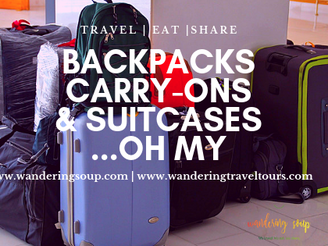 Backpacks, Carry-on's & Suitcases | Wandering Travel Tours