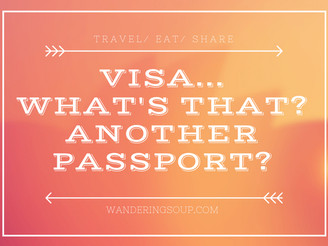 Visa...what's that? Another passport?