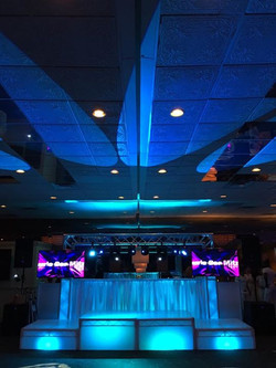 Celebrating Arthurs Bar Mitzvah today! 4 Stages & a sick goal post with drapery facade