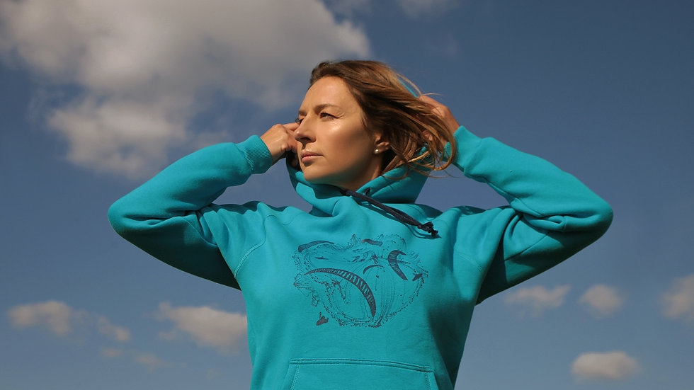 """""""Paragliding World's"""" Blue Hoodie"""