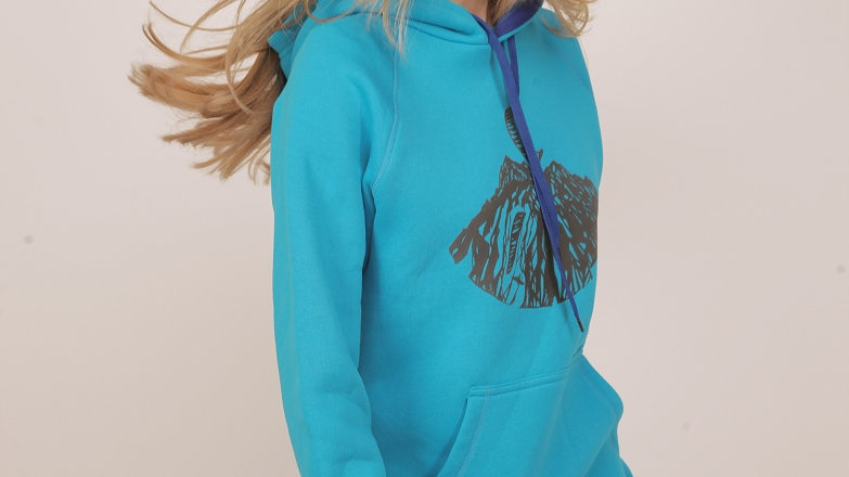 Hoodie with convex pattern BLUE