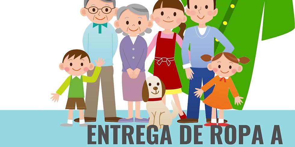 ENTREGA DE ROPA A PERSONAS CON BAJOS RECURSOS ECONÓMICOS