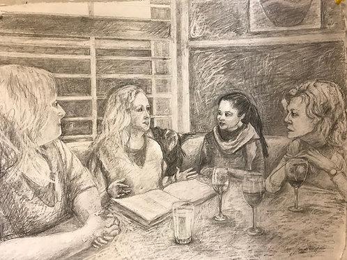 4 Dancers at Dinner