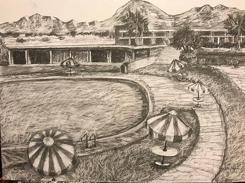 Southern CA Pool Scene-Circa 1960