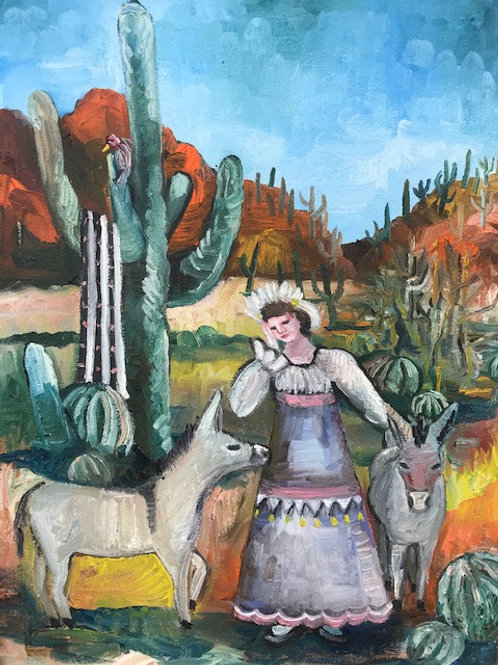 """""""Empire Woman Lost in the Desert With Donkeys"""""""