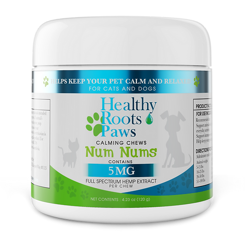 Healthy Roots Paws Calming Chews Num Nums 300mg