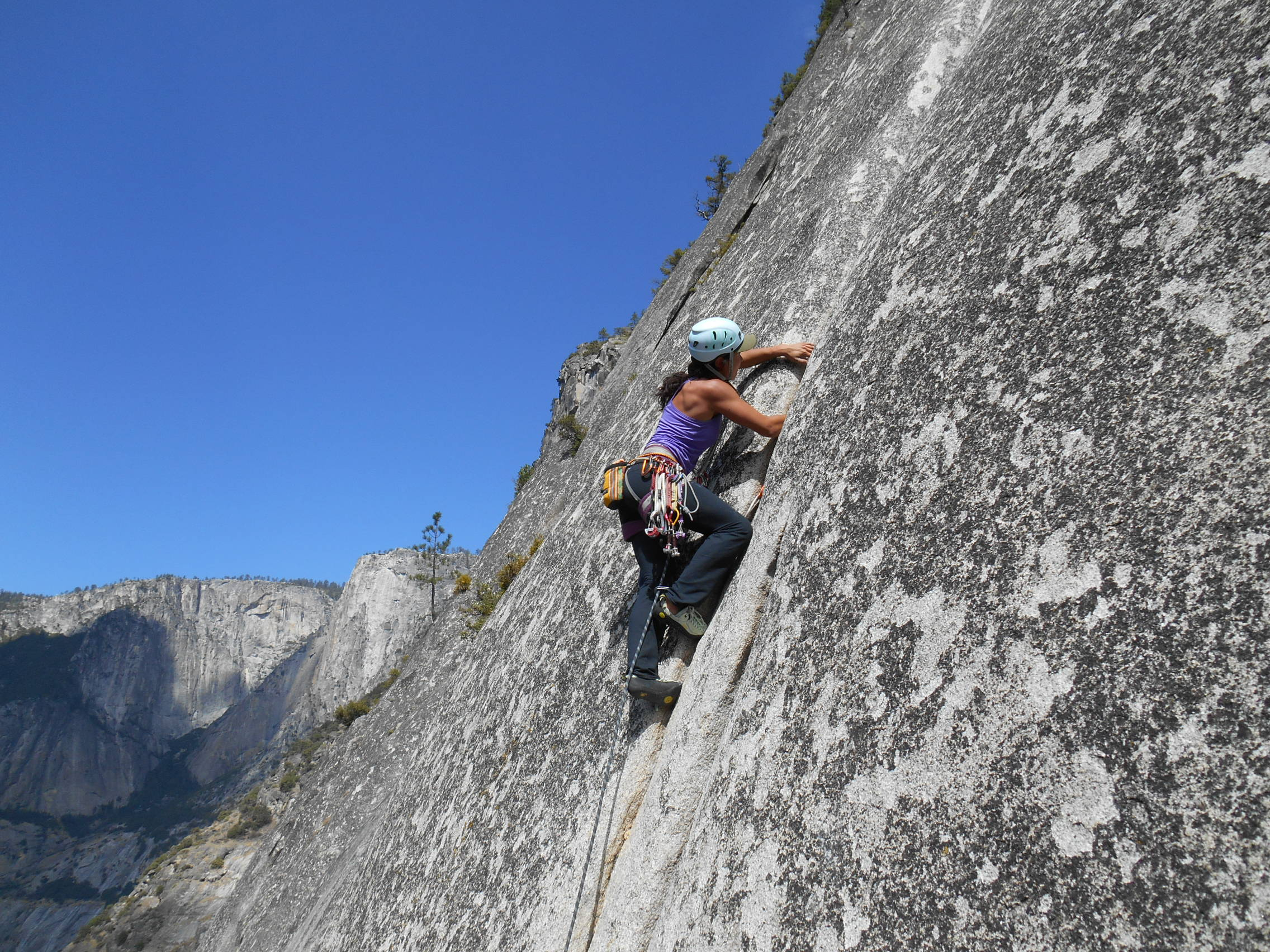 eu escalando no yosemite - via royal arc