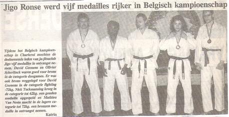 Jigo Ronse werd vijf medailles rijker in Belgisch kampioenschap