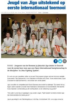 Jeugd van Jigo uitstekend op eerste internationaal toernooi