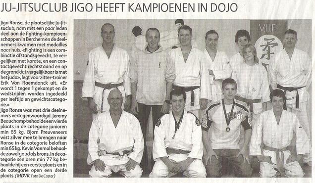 Ju-Jitsuclub Jigo heeft kampioenen in dojo