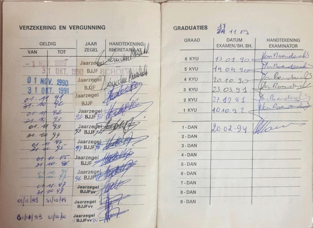 Boekje BJJF Marnic - graduaties