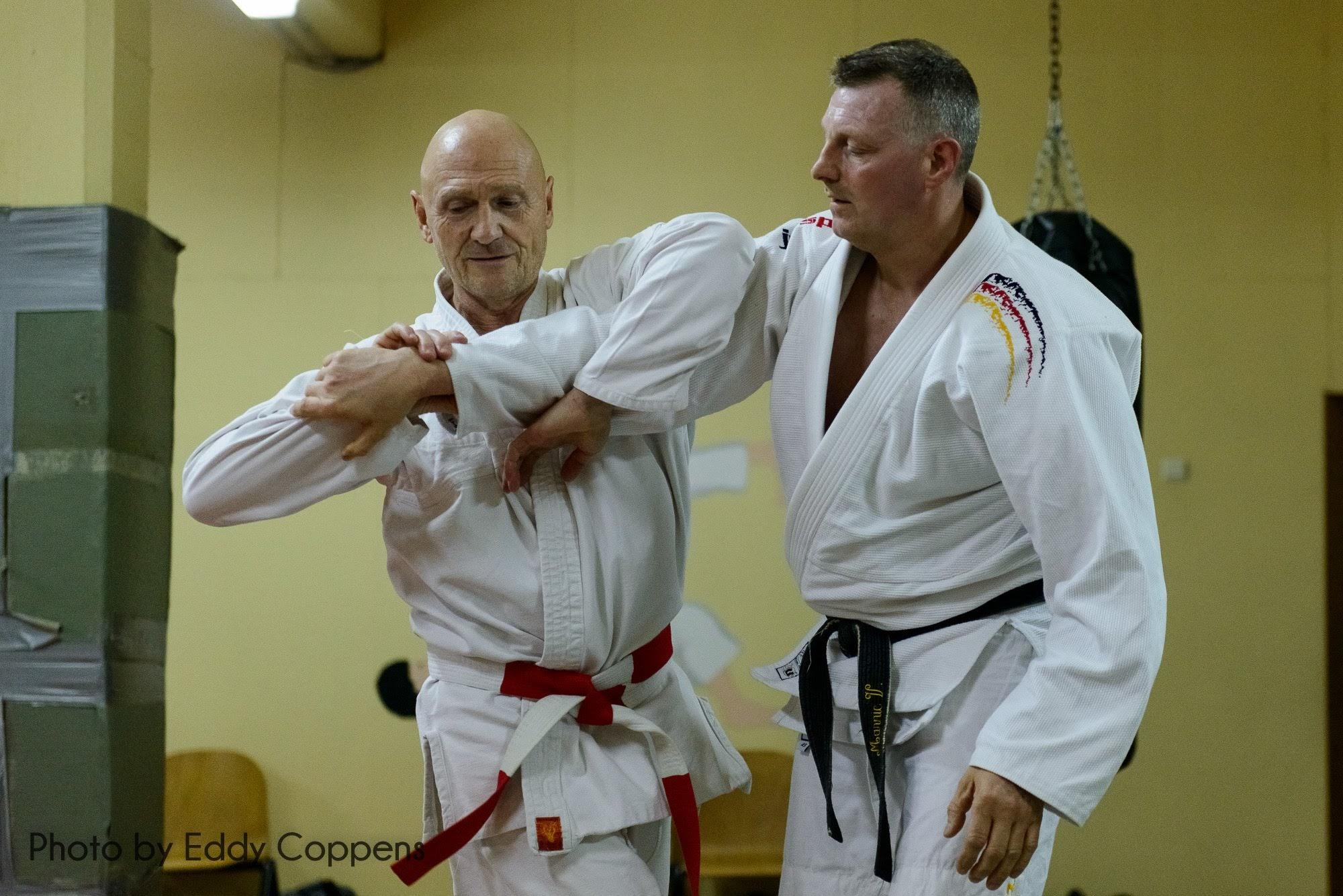 Erik en Marnic tijdens de training