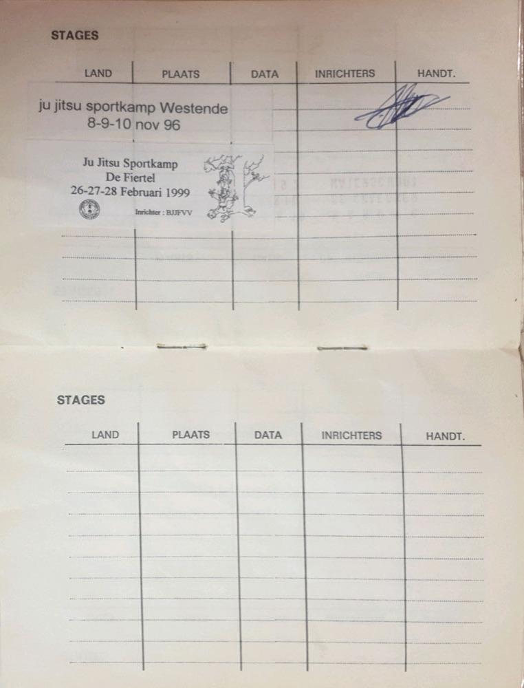 Boekje BJJF Marnic - stages 2