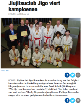 Jiujitsuclub viert kampioenen