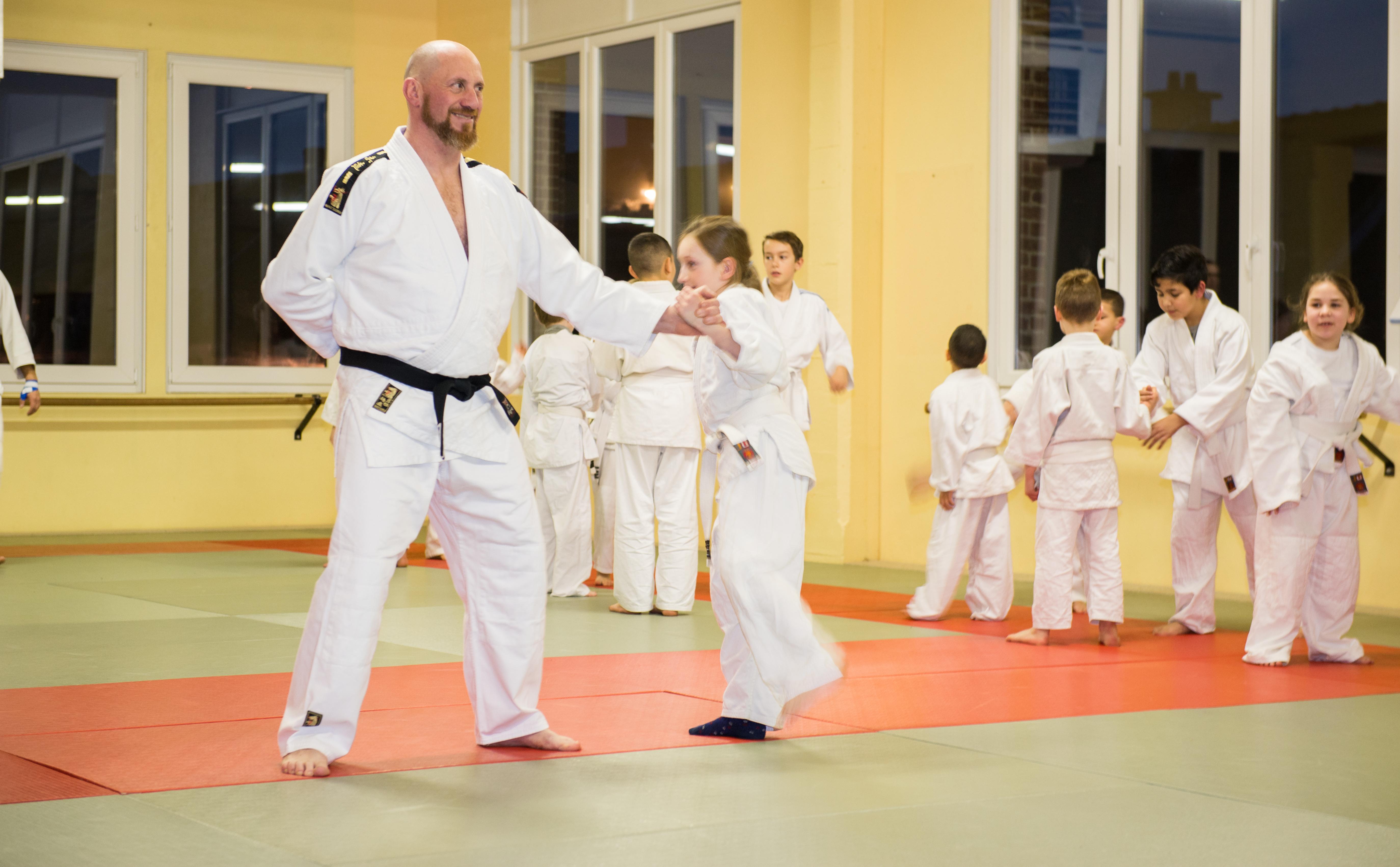Philippe tijdens de training