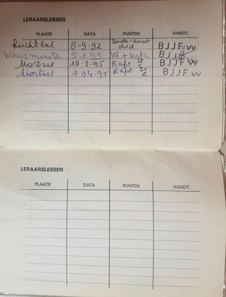 Boekje BJJF Marnic - leraarslessen